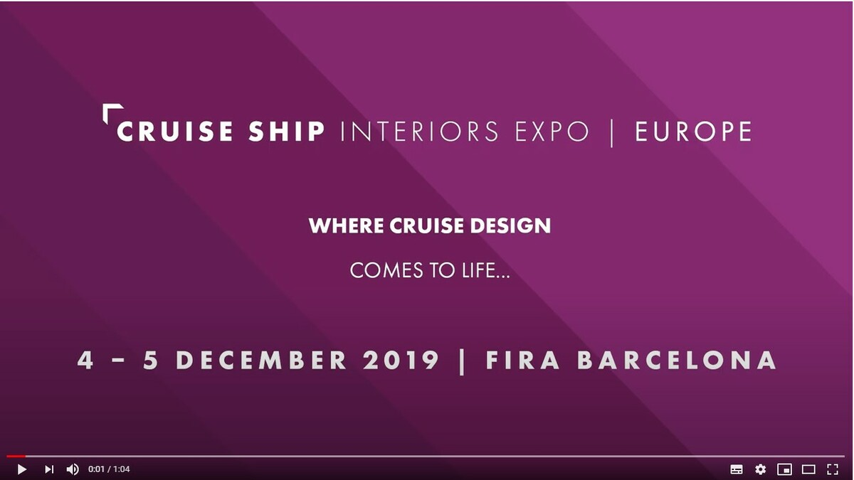 Cruise Ship Interiors Expo Europe 2019