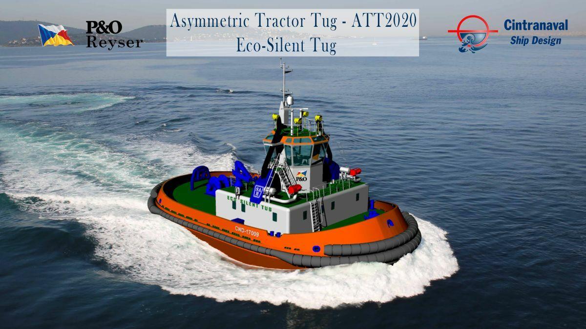 Cintranaval designed an asymmetric tractor tug for P&O Reyser