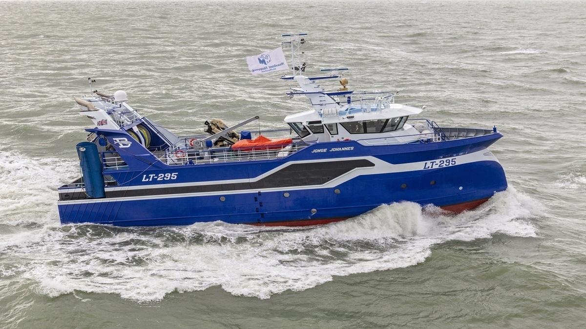 Damen Maaskant Shipyards Stellendam delivers trawler Jonge Johannes (Image: Damen)