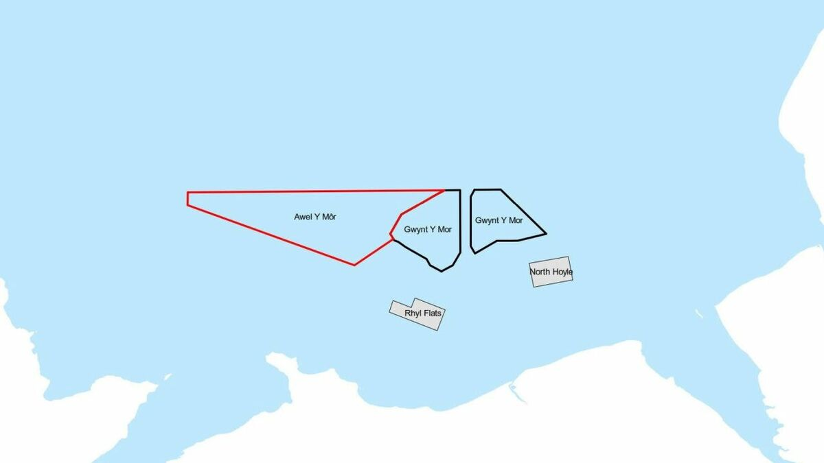 Awel y Môr has secured an agreement for leasing an area of seabed of around 106 km2 to the west of Gwynt y Môr