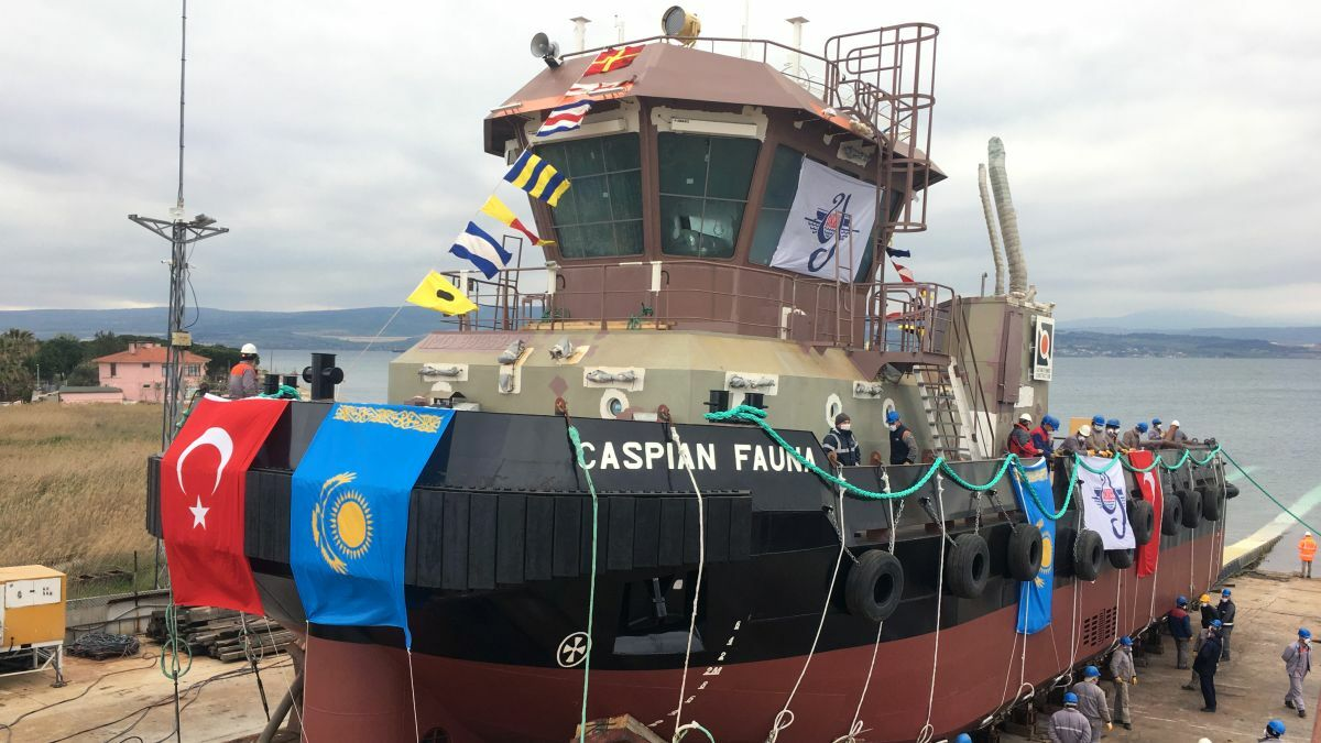 Aksoy Gelibolu Shipyard launched Caspian Fauna on 24 April