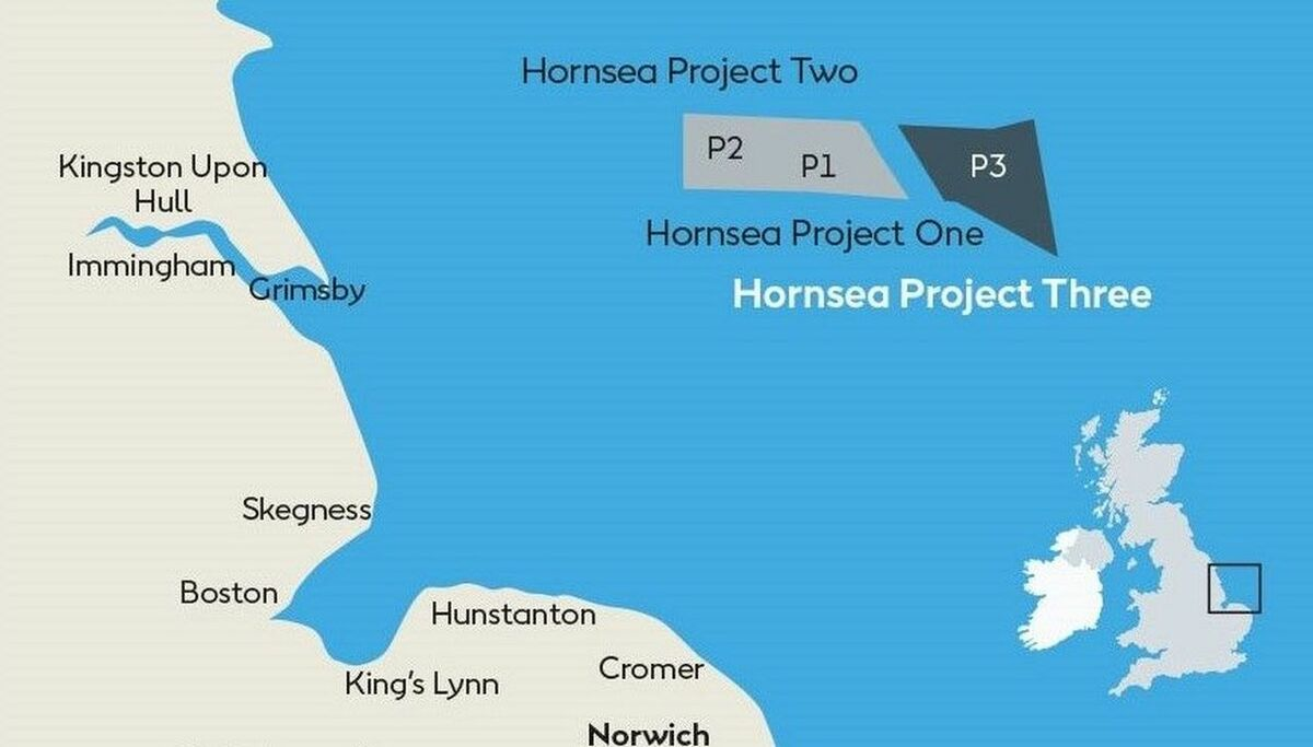Hornsea Project Three is one of a cluster of huge offshore wind projects in the North Sea