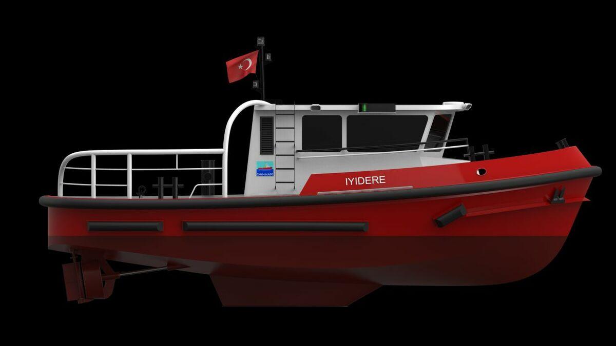 Sanmar based its Iyidere-class vessel on Robert Allan's RAmbler 1200 design