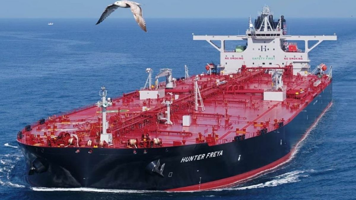 Hunter Freya: One of seven identical ECO design VLCC newbuildings from DMSE (source: Hunter Group)