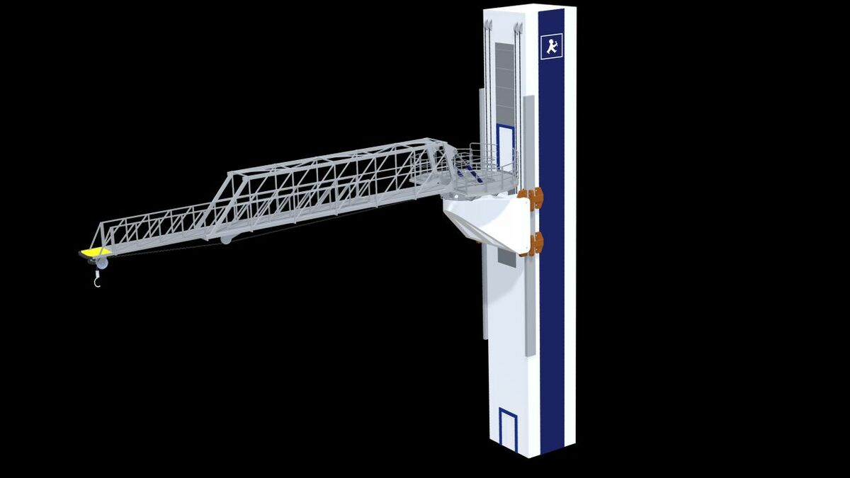 With the gangway moving up and down in the tower, the Ampelmann SOV uses gangway stroke and luffing to provide full 3-D motion compensation