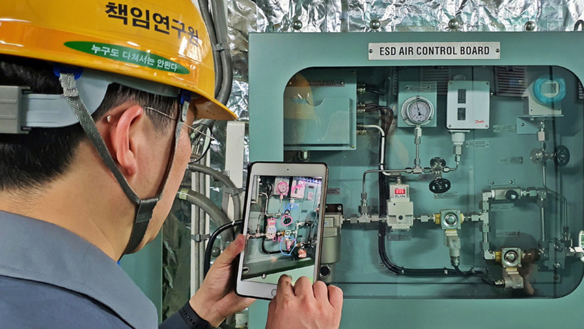 Augmented reality is increasingly becoming used in the maritime sector (Image: DSME)