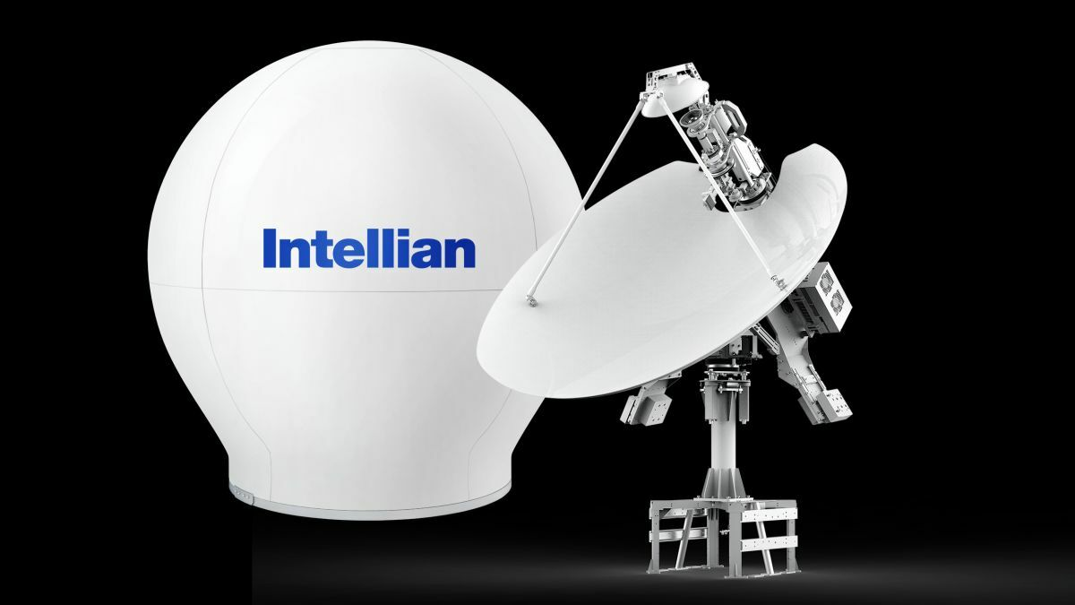 Intellian v240M Gen-II dual-band antenna switches between C- and Ku-band