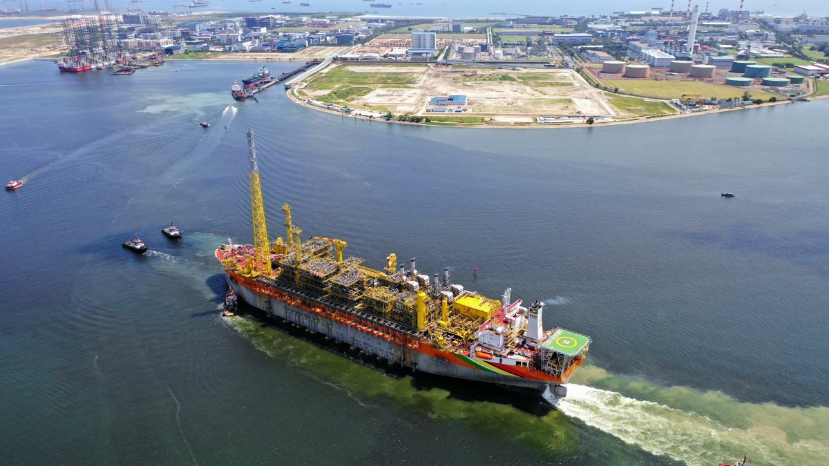 Liza Destiny FPSO, converted in Singapore, began producing oil offshore Guyana in December 2019 (image: SBM Offshore)