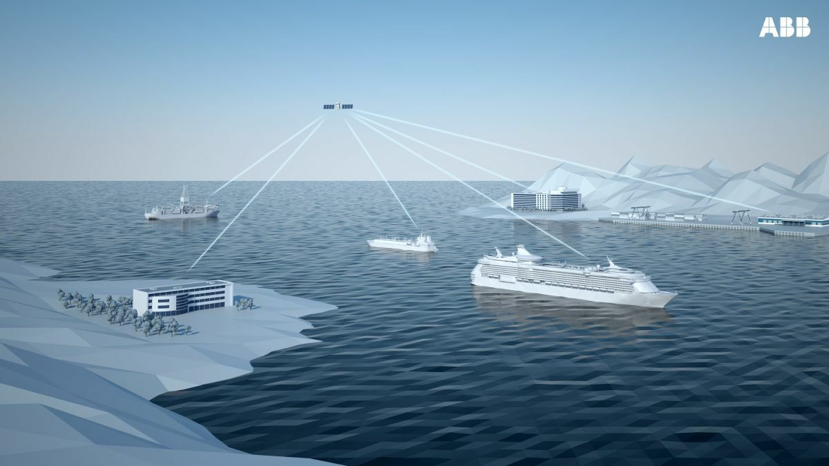 Autonomous ship operations will begin with decision support from shore (source: ABB)