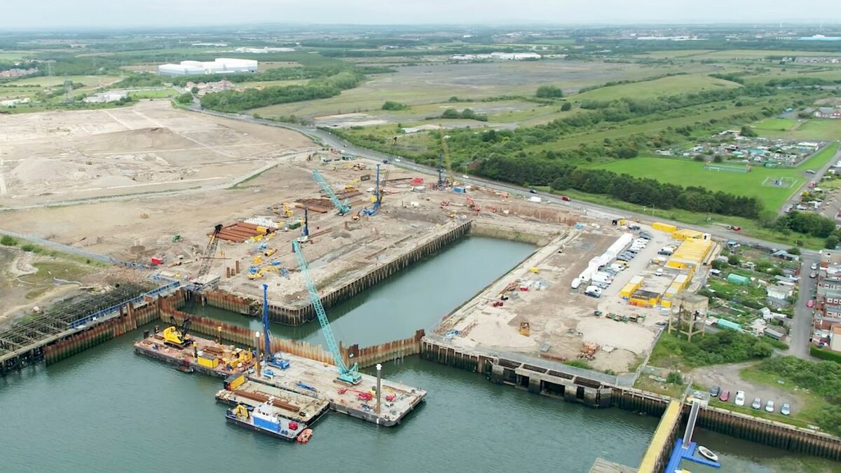 The dock at the Northumberland Energy Park will be able to support offshore wind developments in the North Sea
