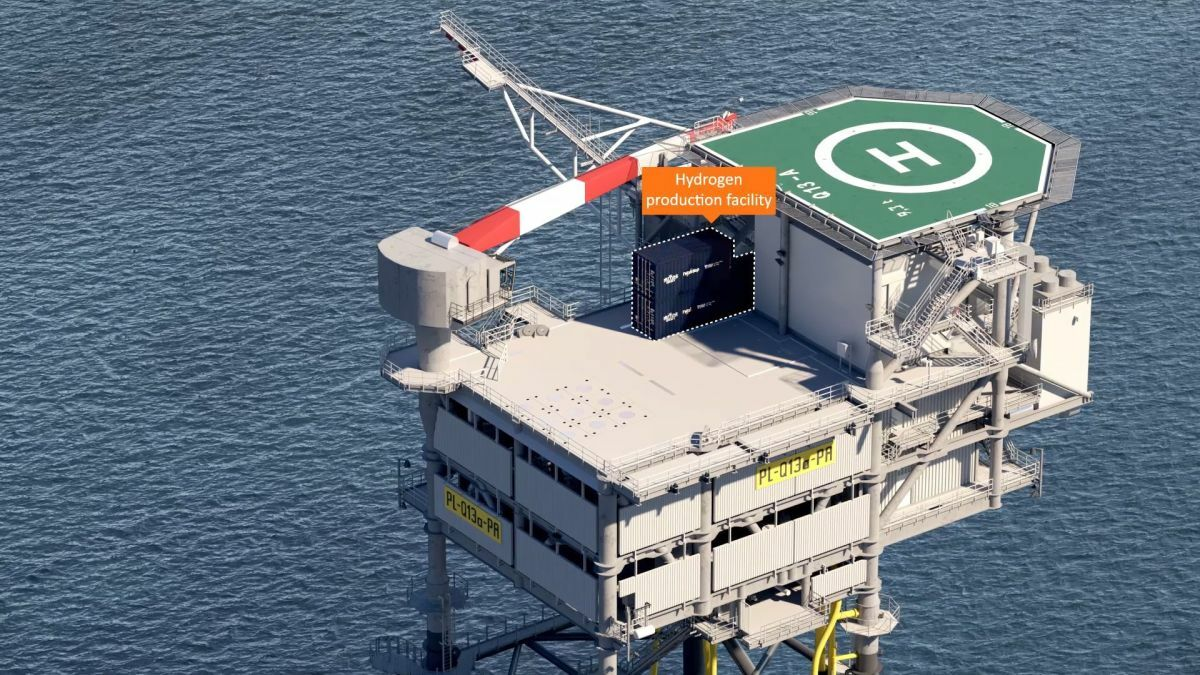 Neptune Energy's Q13a platform will be fitted with electrolysis equipment as part of the PosHYdon pilot project