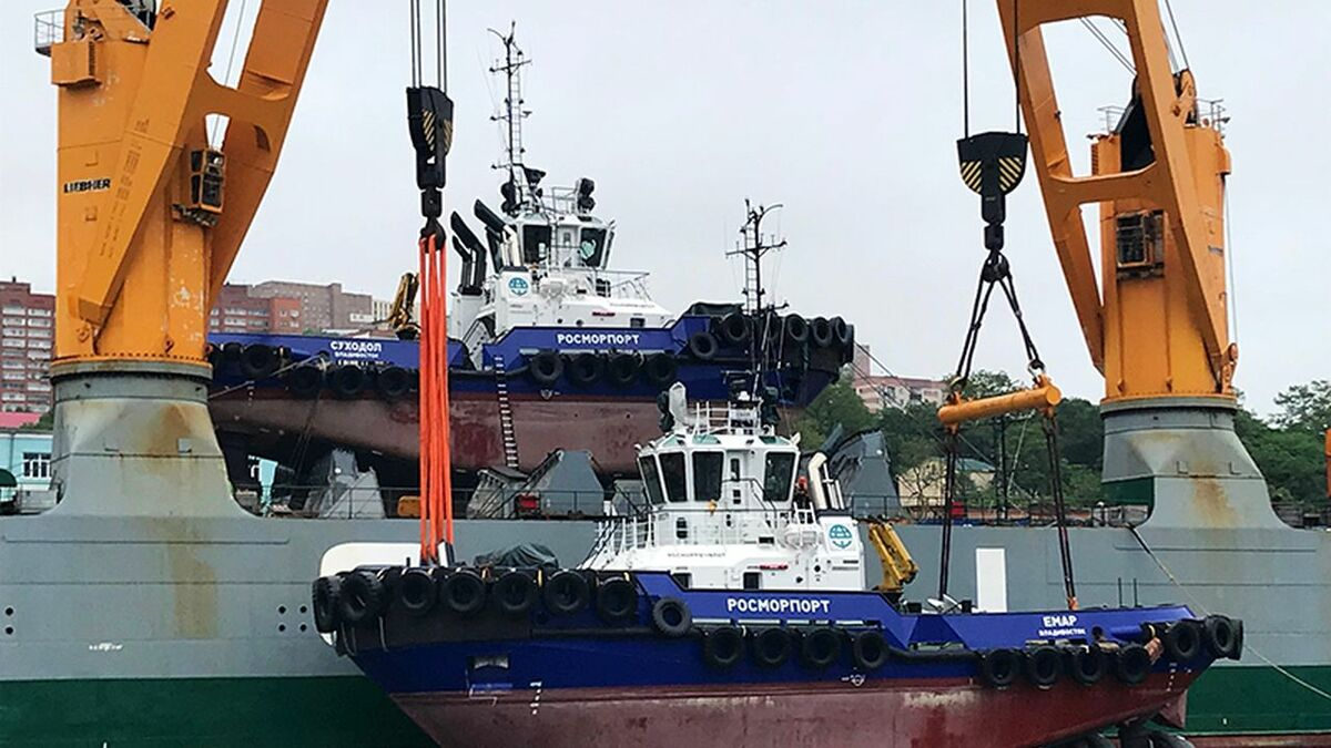 Four tugs were delivered to Rosmorport in Vladivostok on IMKE