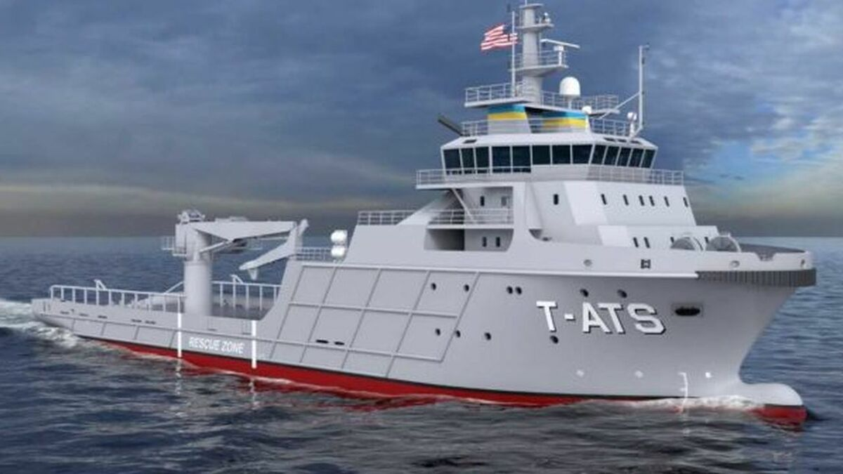 MacGregor is supplying shipsets for T-ATS class ships (source: US Navy/Gulf Island)