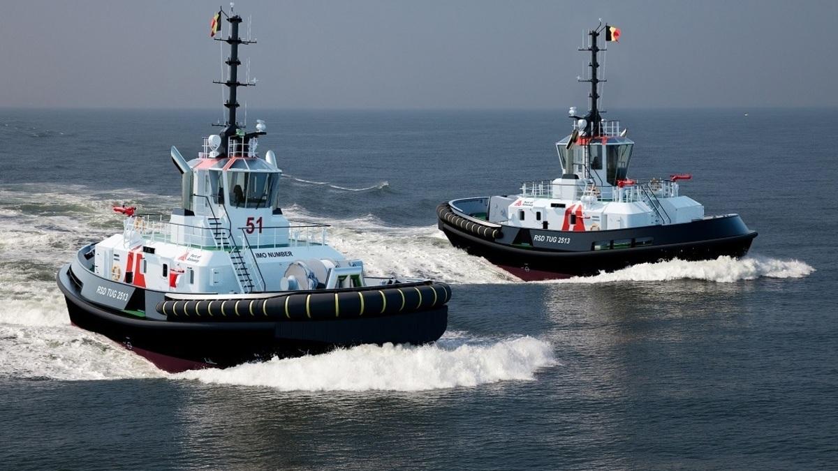 Damen's RSD Tug 2513 will feature 70 tonnes of bollard pull (Image: Damen)