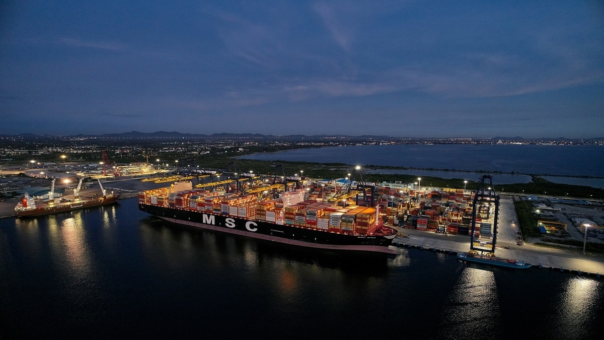 MSC Mina called at Terminal D, Hutchinson Ports, Port of Laem Chabang in Thailand (Image: MSC)
