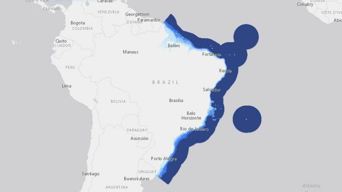 Brazil has significant potential for offshore wind, in waters of less than 50 m, along its lengthy coastline