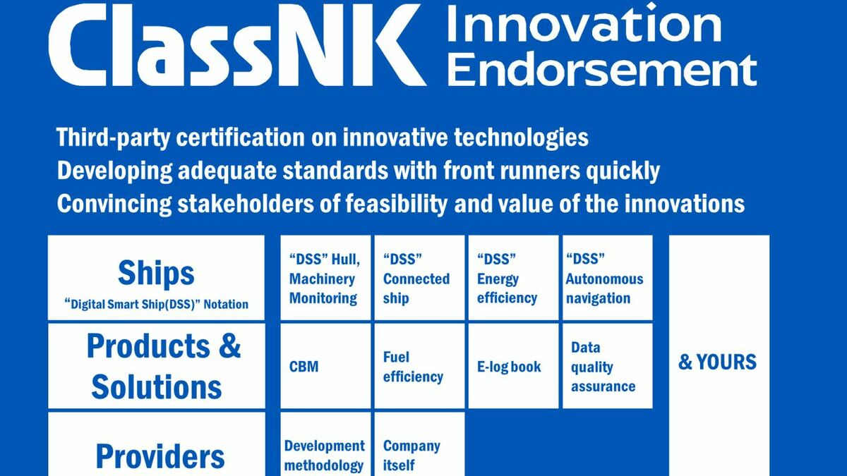 ClassNK innovation endorsement programme explained