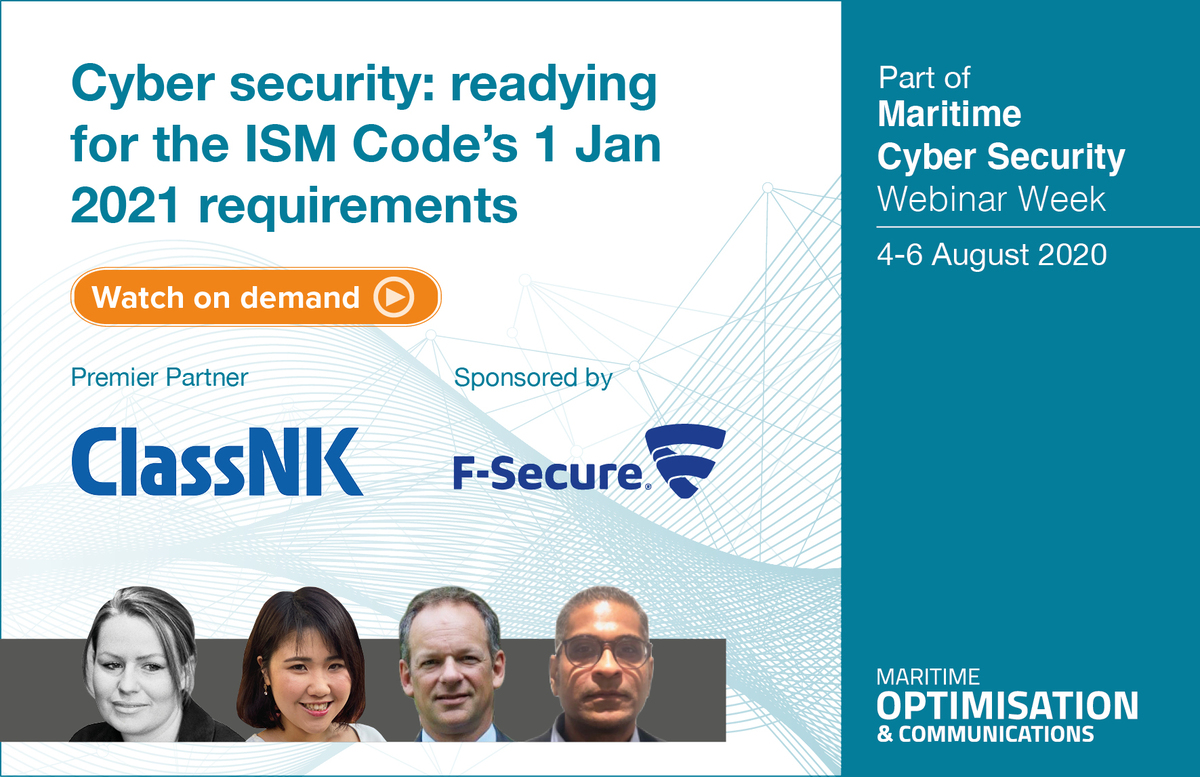 'Cybersecurity: readying for the ISM Code' webinar panellists