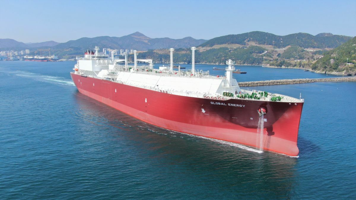 Global Energy is the first ME-GI-propulsion LNG carrier newbuild to join Nakilat's fleet