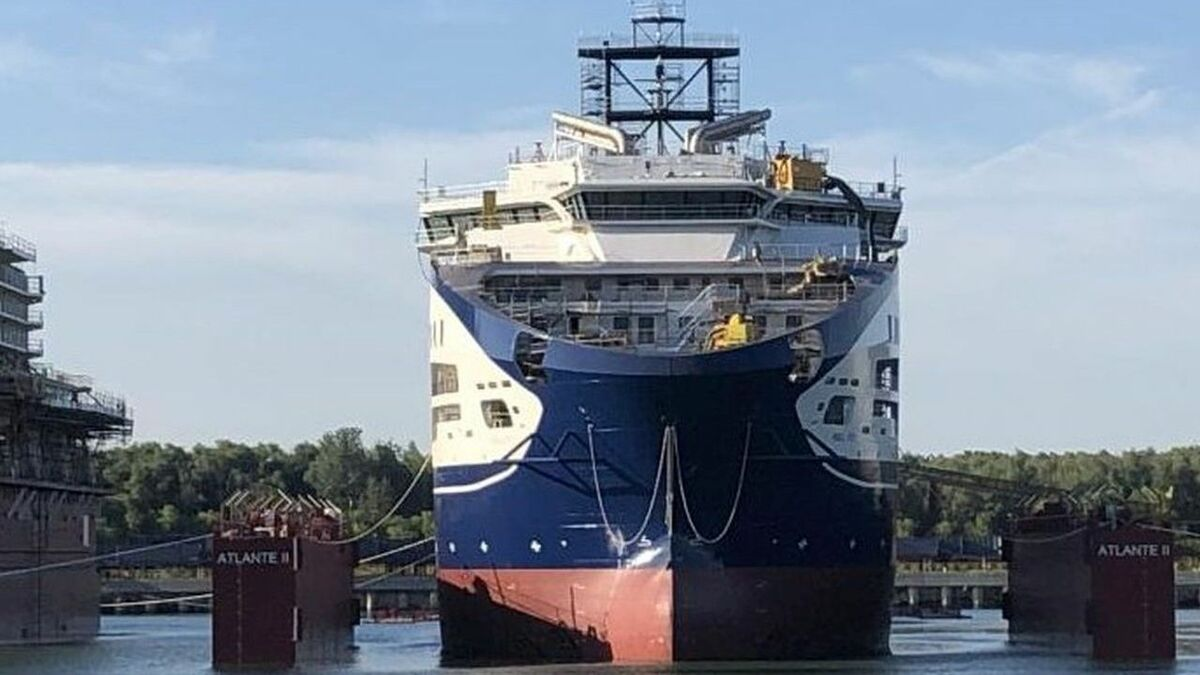 Prysmian's new cable-lay vessel hits the water