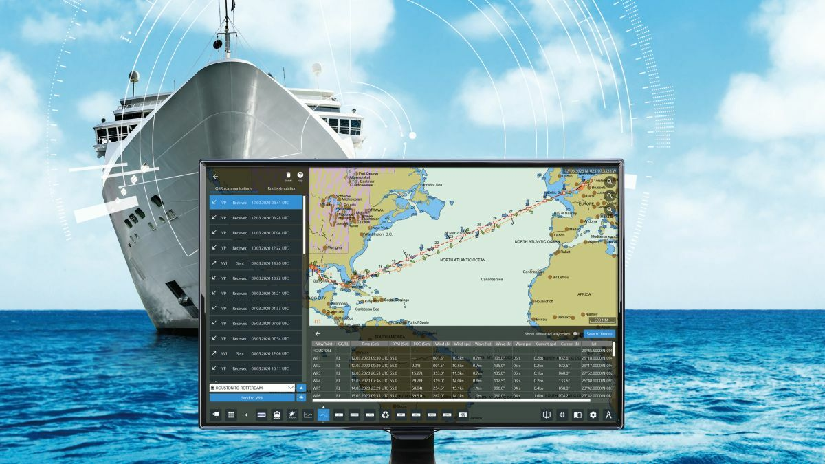 Navtor integrates WNI weather information for optimised ship routeing