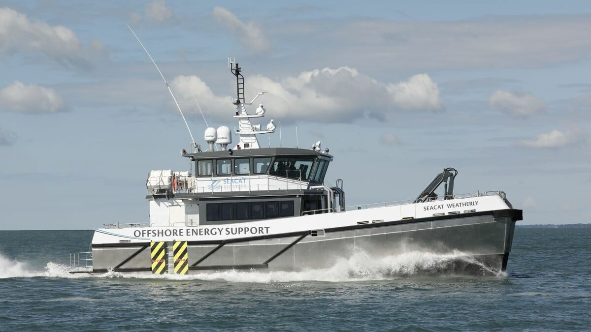 Seacat Weatherly is the first of two vessels for Seacat Services designed by Chartwell Marine