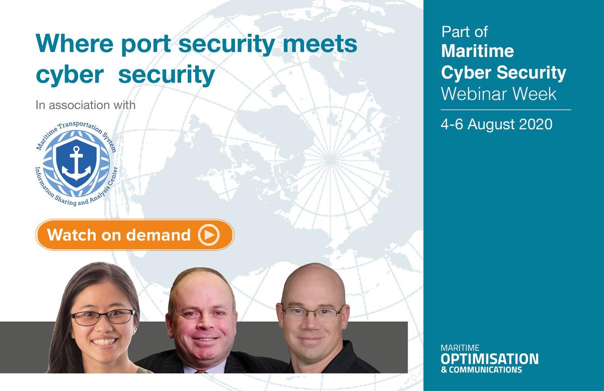 Panellists on 'Where port security meetscybersecurity' webinar