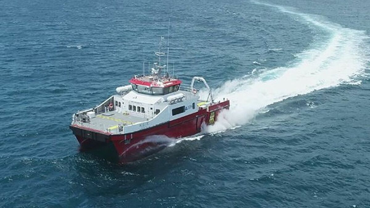 Locally built Taiwanese crew transfer vessel launched