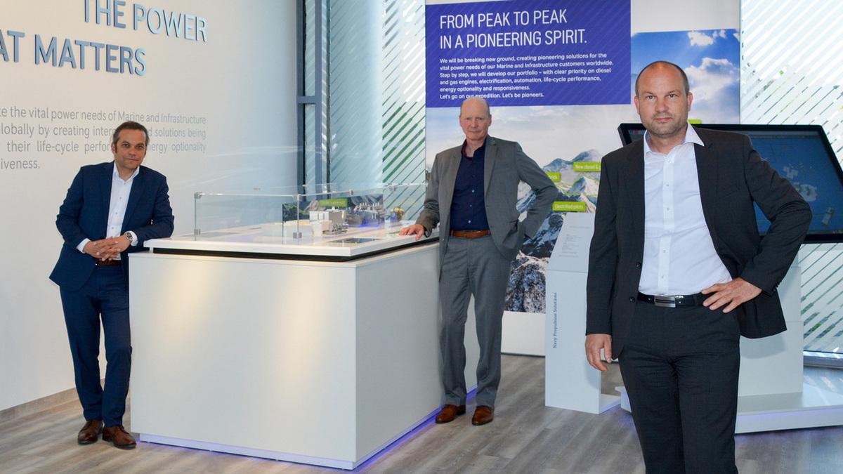 Rolls-Royce's new Power Lab management: Peter Riegger (R), Daniel Chatterjee (L) and Arne Schneemann (M) (Image: Rolls-Royce)