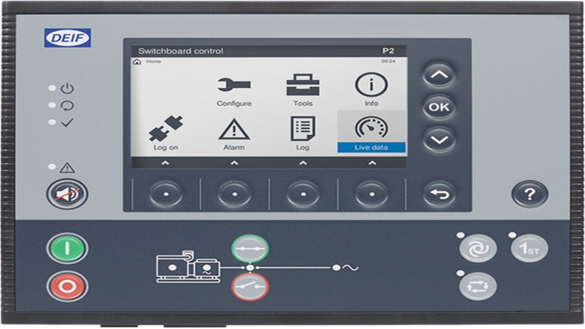 DEIF's Multi-Line 300 controller platform for power management and generator control (Image: DEIF)