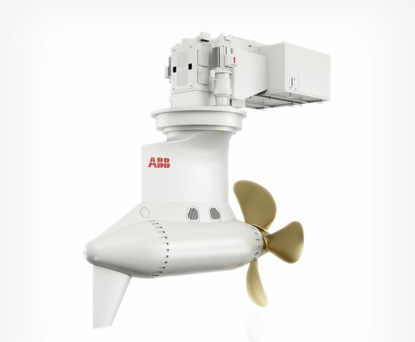 ABBs medium speed Azipods control the vessel's manoeuvrability (Image courtesy ABB)