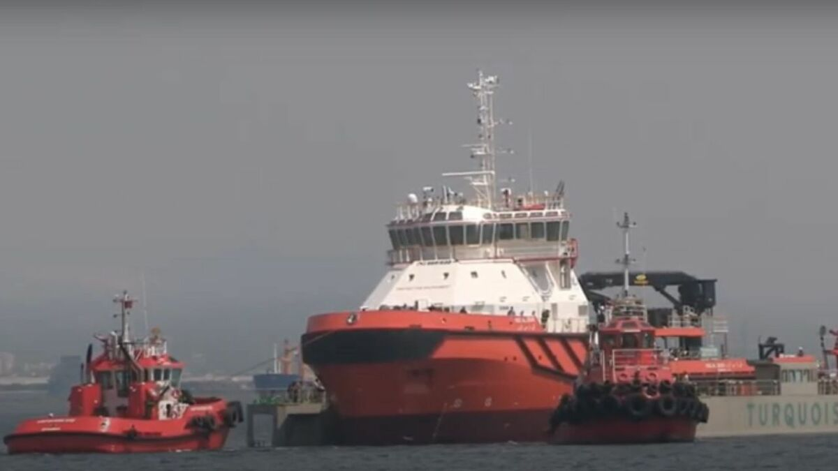 Al Zour oil response and towage vessel is launched by Uzmar in Turkey (source: Uzmar)