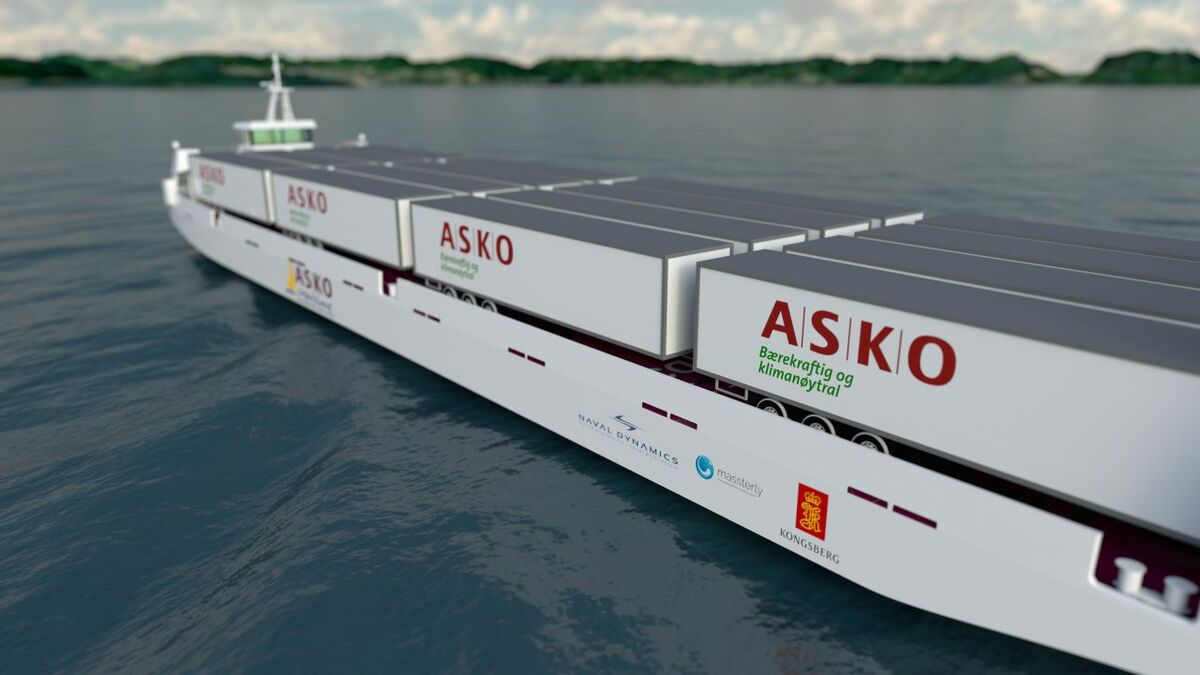 Kongsberg will equip two Asko autonomous full electric roro vessels (source: Kongsberg)