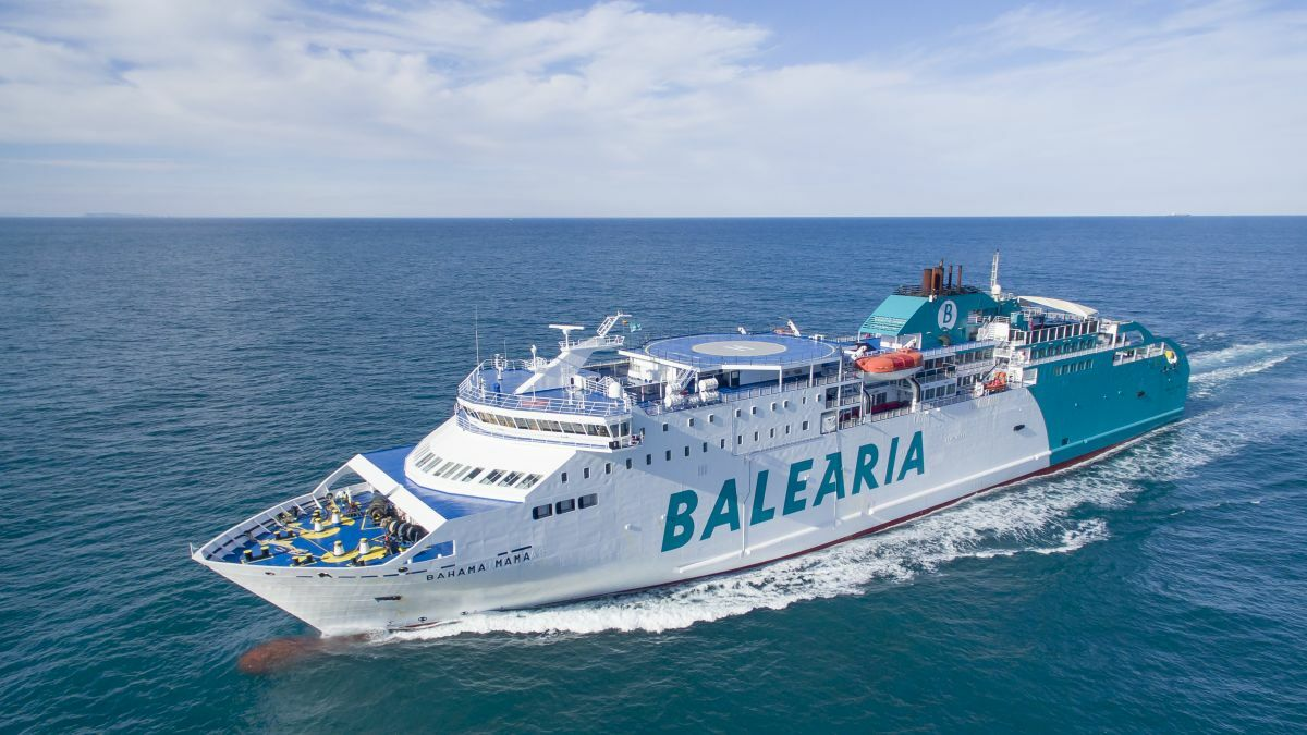 Baleària's Bahama Mama is the fifth of its fleet to be retrofitted for LNG (Image courtesy Baleària)
