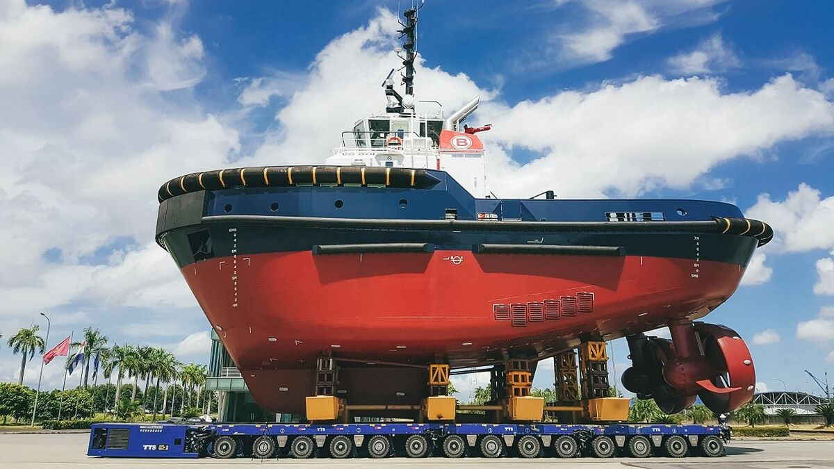 Damen Shipyards launches a new ASD tug for Boluda Towage Europe in Vietnam