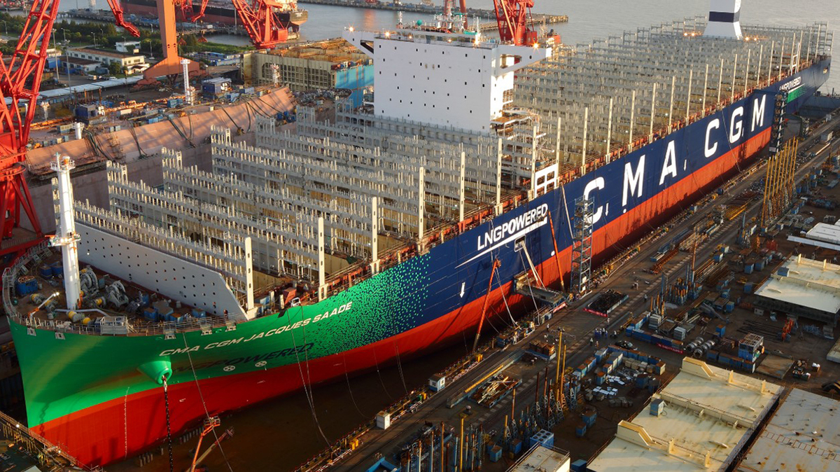 CMA CGM's Jaques Saade became the largest LNG-powered container ship in the history of maritime transport when it launched in September 2019