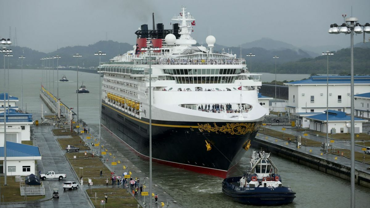 Shipside passenger evacuation systems can be damaged in confined spaces like the Panama Canal