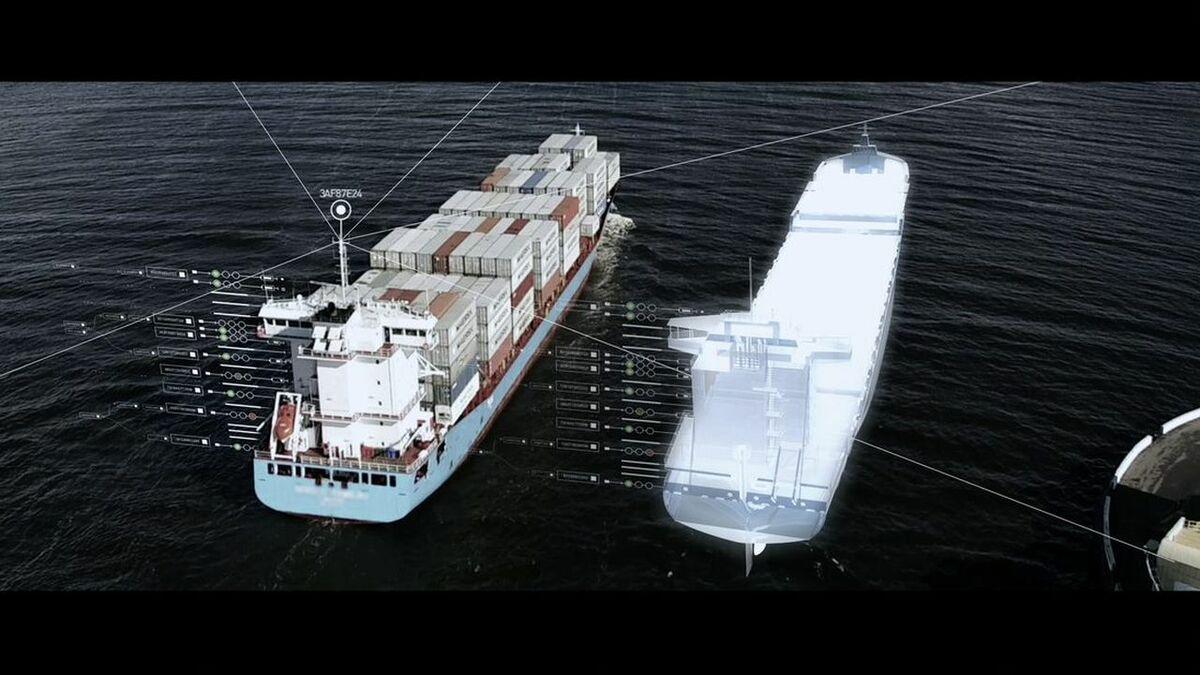Digital twin of a ship by Kongsberg's Digital Ocean