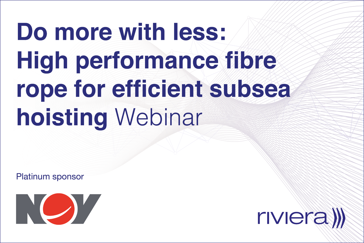 Do more with less: high-performance fibre rope for efficient subsea hoisting