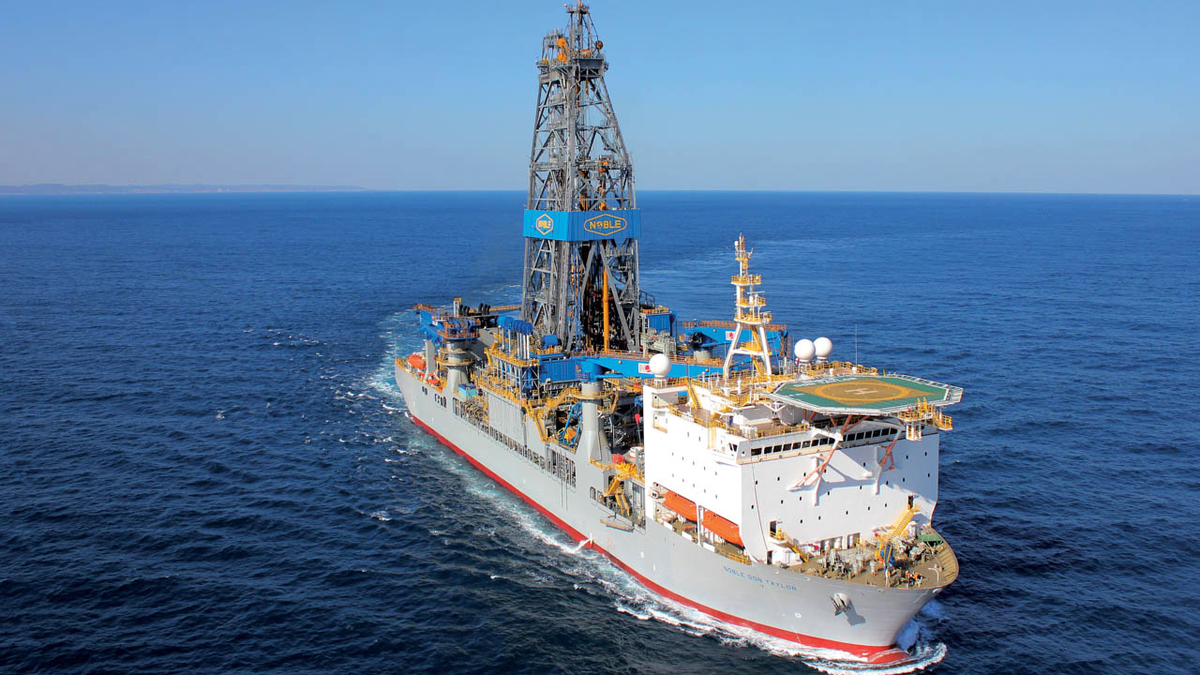 Noble Don Taylor is one of four ultra-deepwater drillships contracted by ExxonMobil for Guyana (image: Noble)