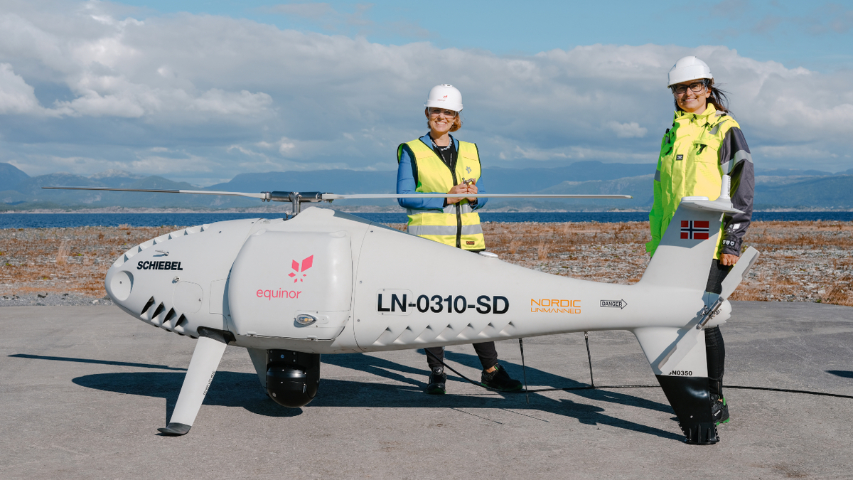The drone can carry cargo weighing up to 50 kg (image: Ole Jørgen Bratland/Equinor)