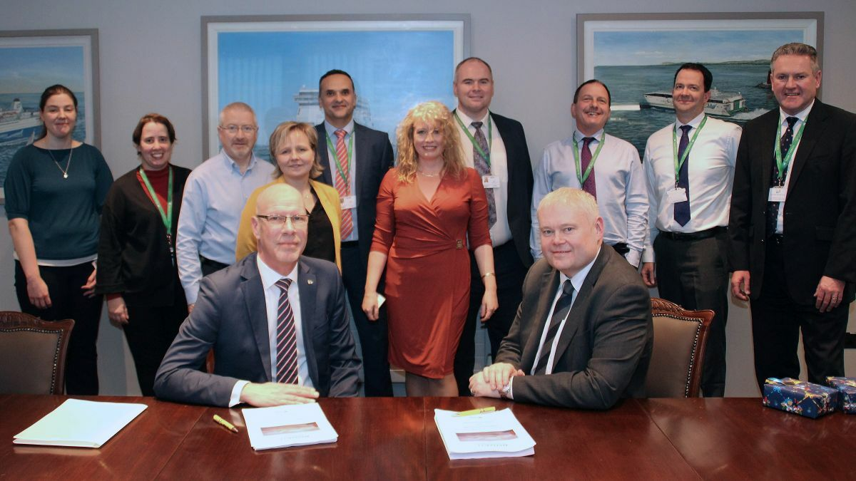 Hogia and Irish Ferries signed the contract for Bookit deployment in January 2020