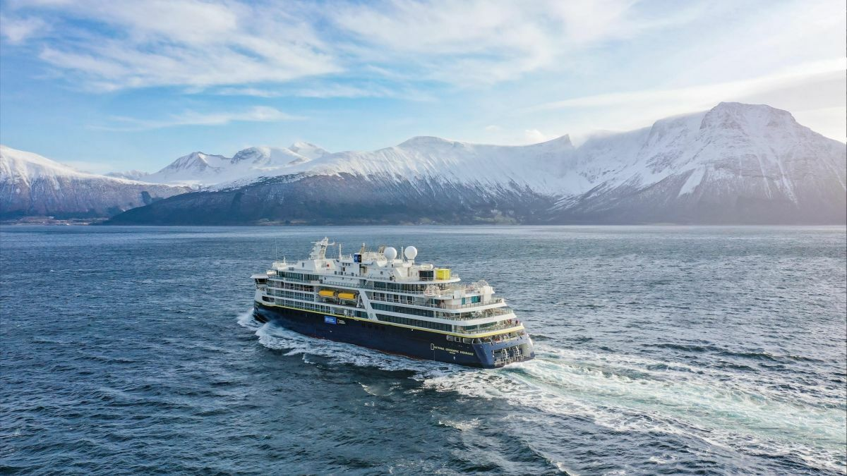 Lindblad Expedition's latest expedition cruise ship, X-Bowed National Geographic Endurance, bristles with the highest polar-class technology (Image courtesy Ulstein)