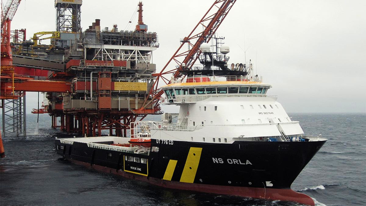 NS Orla is one of two battery-hybrid PSVs that will be managed by Eidesvik Offshore (image: Golden Energy Offshore)