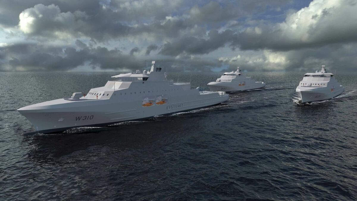 Norwegian Coastguard vessels are being built by Vard (source: Kongsberg)