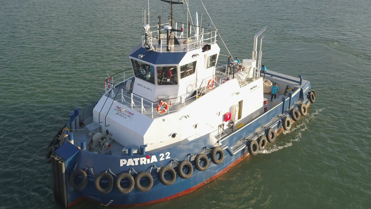 Patria 22 was built to OSD-IMT7402 design with 20 tonnes of bollard pull in Indonesia (source: OSD)