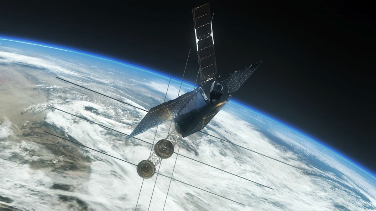 An OrbComm satellite provides AIS communications to shipping (source: Orbcomm/Saab)