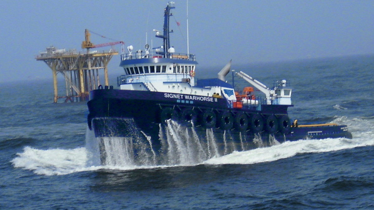Signet Warhorse II was refitted with new CP propellers and a retractable azimuth thruster (image: Signet Maritime)