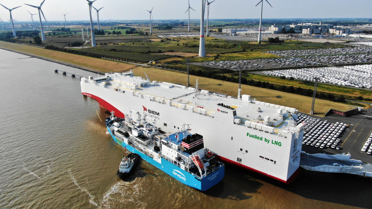 Engie Zeebrugge was able to refuel Siem Confucius with 1,500 tonnes of LNG in about eight hours (image: NPorts/Flight Inspector)