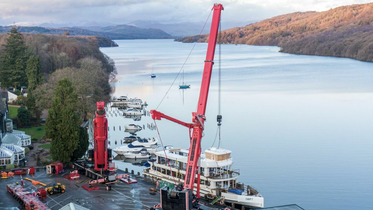 Windermere Lake Cruises' new hybrid-electric Swift is launched, at 300-passenger capacity, the biggest vessel seen on these waters in over 80 years (Image: Windermere Lake Cruises)